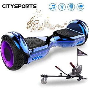 "<h6 id=libro>CITYSPORTS Balance Board 6.5"",😃 Self Balancing Scooter 😃Patinete Eléctrico con Rueda LED y Bluetooth Integrado, Motor 2 * 350W</h6>"